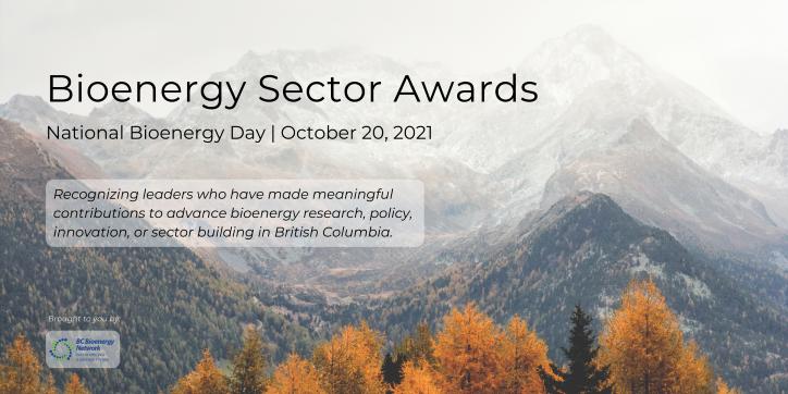 BC Bioenergy Sector Awards: October 20, 2021